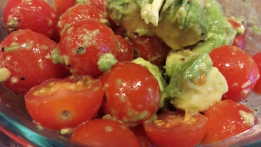baby tomatoes and avo