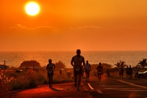 Sunset at the Natural Energy Lab - Ironman 2007 Photo by Rich Cruse on Fivehundredpx