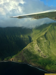 not my shot - North of the island Molokai cliffs same view from our Mokulele plane