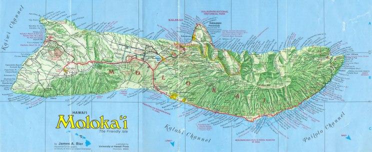 Moloka'i island is tiny