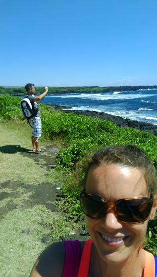 Punulu'u black sands beach